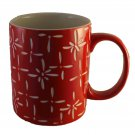Red Starburst Holiday Mug Ceramic Hot Coffee Tea Mugs 13 oz Cup Cups
