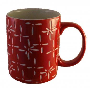 Red Starburst Holiday Mug Ceramic Hot Coffee Tea Mugs 13 oz Cup Cups