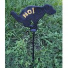 """Dog No Poop Cast Iron Yard Art Sign REVERSIBLE Left or Right 23"""" Ht Patio Decor"""