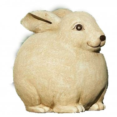 Pudgy Pals Rabbit Garden Statue Outdoor Statuary Decor Yard Art