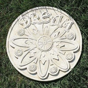 Dream Garden Stepping Stone Resin Mold Outdoor Patio Decor