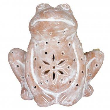 Frog Luminary Candle Holder Indoor Outdoor Accent Lighting Garden Decor Light