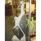 Shona Art Long Neck Birds Stone Statue African Artist Signed Sculpture Bird Art