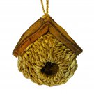 Birdhouse Rounded Buli Fiber Garden Patio Handmade Bird Houses Garden Decor