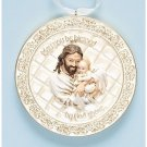 "Jesus with Baby Medallion ""Wrapped in His Love"" Baptism Cradle Medal"
