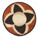 African Basket Four Star Autumn Bloom Raffia Fruit or Display Home Decor