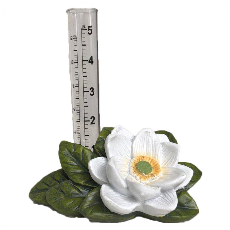 Lotus Flower Rain Gauge Garden Outdoor Decor