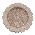 Granite Bird Bath Garden Outdoor Decor Hand Carved Stone Statuary Birdbath Southwestern Pink