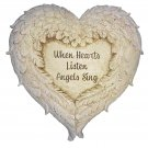 Angel Wings Memorial Garden Marker Stepping Stone or Wall Hanging When Hearts
