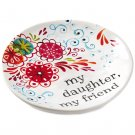 "My Daughter My Friend (Floral) Hallmark Ceramic Trinket Dish, 4.5"" Decorative Accessories"