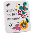 Friends are Like Sunshine Ceramic Quote Block with Easel Back, Plaques & Signs Family Gift Ideas