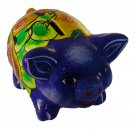 Talavera Pottery Pig Piggy Bank with Removable Plug on Bottom #4
