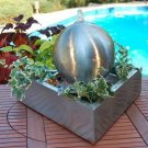 Fountain Triangle Tabletop Stainless Steel w Black iron Stand
