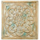 "Glazed Pearl Medallion Decorative Wall Art, 15"", Indoor/Outdoor"