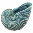 Nautilus Sea Shell Art Ceramic Sculpture Beach Coastal Theme Home Decor