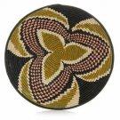 Large Sage Three Petal Design Fruit or Display African Basket Handwoven Home Dec
