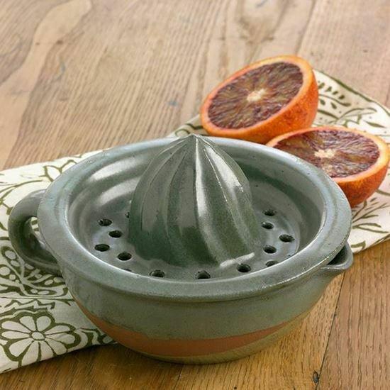 Glazed Earthenware Hand Shaped Citrus Juicer