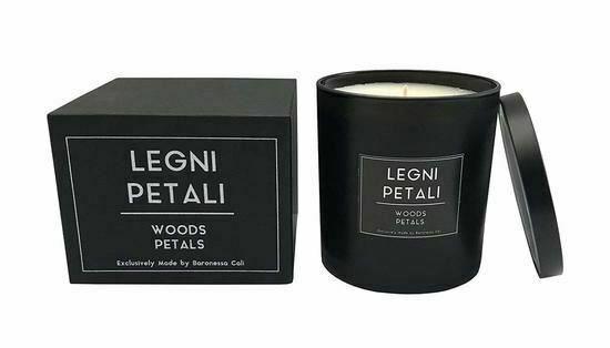 BARONESSA CALI, SICILY, ITALY Candle LEGNI PETALI - Fragrance Woods and Petals M