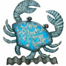 Crab Metal/Glass Coastal Table/Wall Decor Beach Coastal Decor