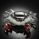 Crab Statue Art Glass Nautical Theme Home Decorative Accent Beach Cottage Decor