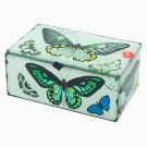Butterfly Decorative Boxes Mirrored Glass Keepsake Box Collectible Decor
