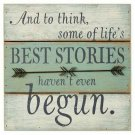 Life's Best Stories Rustic Wood Sign Wall Hanging Home Decor