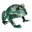 Small Frog Mosaic Glass on Metal Garden Decor Patio Statuary