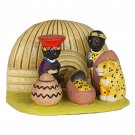 Small Cultural Nativity Scene Seasonal Decoration Nativities Around the World (African Nativity)