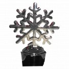 Yuletide Winter Holiday Silver Tone Metal Wine Bottle Stopper - Snowflake