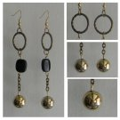 Black & Gold Audrey Earrings