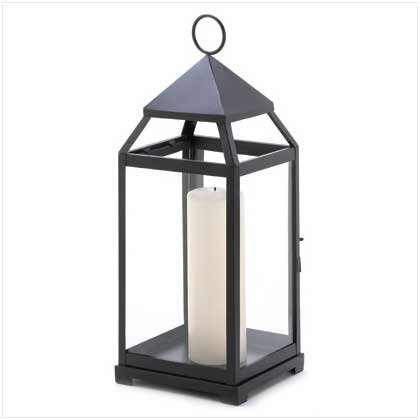 Large contemporary candle lantern