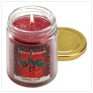 Holly berries sent candle