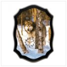 Timber wolf wall clock 12177