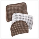 Cocoa dots travel bag trio  12254