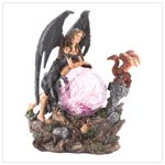Gothic Angel with glowing globe   12543
