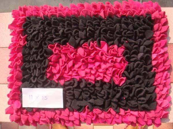 Pink and Black Floor Mat