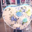 Handmade Purse - Pink Heart with Roses