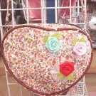 Handmade Purse - Red Heart with Roses