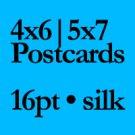 "QTY 5000 - 4"" X 6"" 16PT Flyers and Postcards w/ SPOT UV"