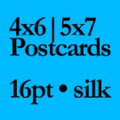 """QTY 200 - 4"""" X 6"""" 16PT SILK LAMINATED Flyers and Postcards"""