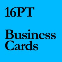 "QTY 250 - 2"" X 3.5"" 16PT MATTE Business Cards"