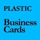 "QTY 1000 - 2"" X 3.5"" 20PT FROSTED PLASTIC Business Cards"