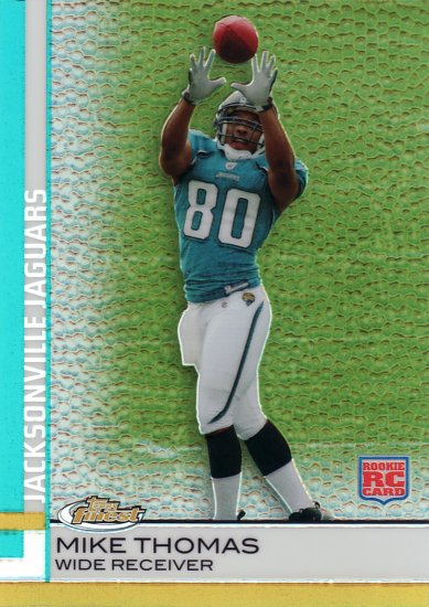 2009 Topps Finest Pigskin Refractor MIKE THOMAS