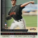2010 Bowman Baseball Bowman Expectations - Madison Bumgarner & Jon Lester