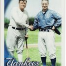 2010 Topps SERIES 2 BABE RUTH & LOU GEHRIG