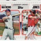 2010 Topps SERIES 2 Legendary Lineage EDDIE MATHEWS & CHIPPER JONES LL-34
