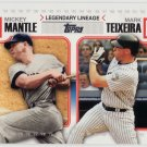 2010 Topps SERIES 2 Legendary Lineage MICKEY MANTLE & MARK TEIXEIRA LL-59