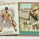 2010 Allen & Ginter This Day in History #TDH31 MARK TEIXEIRA