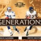 2007 Donruss Threads - Generations - DEION SANDERS & DEVIN HESTER #G-2