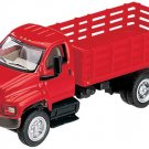 Dept 1-87 Red GMC Topkick 2-Axle Open Stake Bed Truck 1/87 Scale